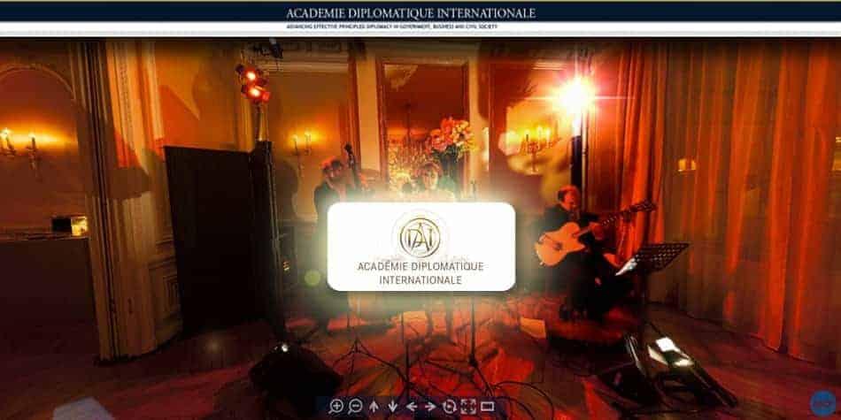visite virtuelle de l'Académie Diplomatique Internationale
