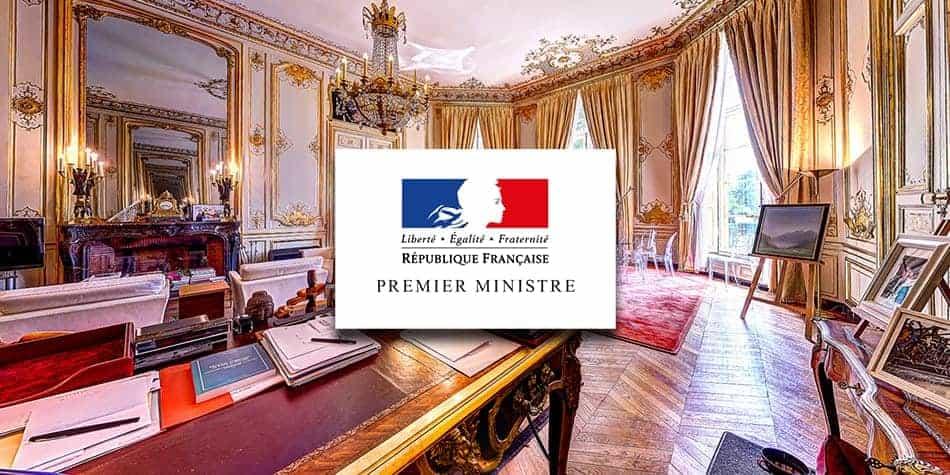 visite virtuelle du bureau du premier ministre - hôtel matignon