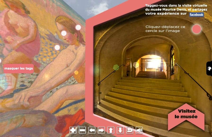 visite virtuelle du musee maurice denis - tagging