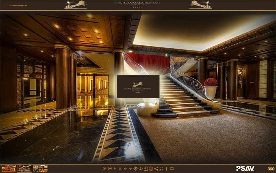 visite virtuelle de l'Hotel du Collectionneur