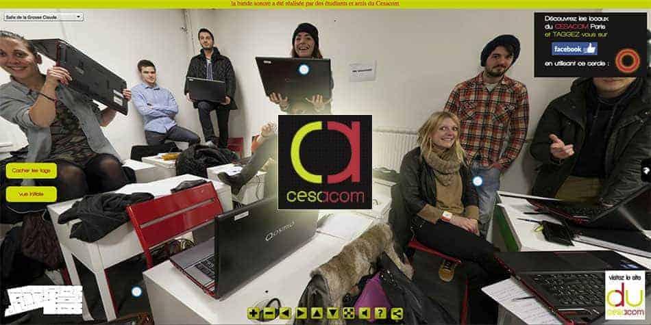 visite virtuelle interactive du Cesacom