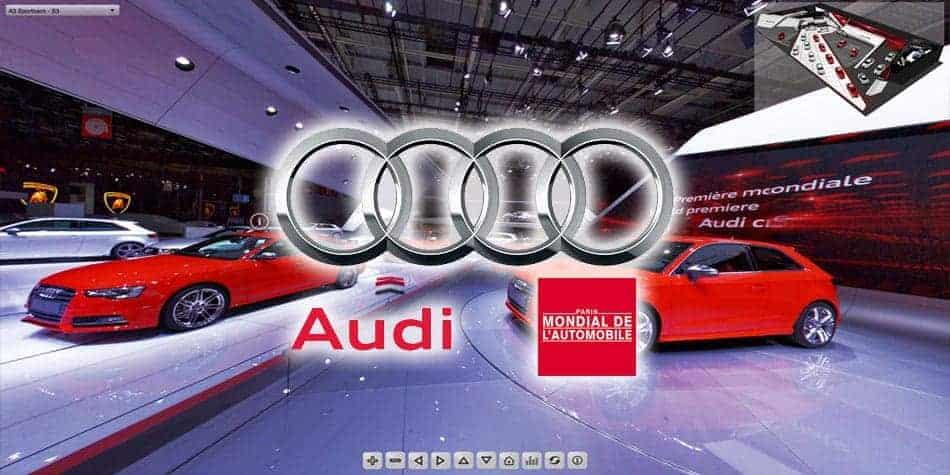 visite virtuelle stand audi mondial de l'automobile